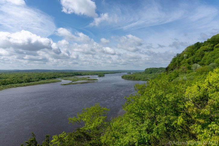 Ferry Bluff State Natural Area - Views Across the Wisconsin River