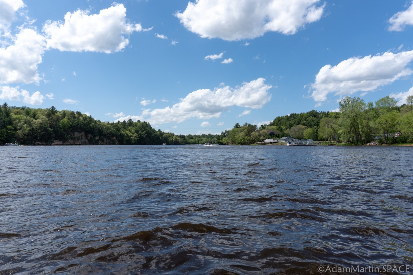 Dells of the Wisconsin River - River Views from Start of the Tour
