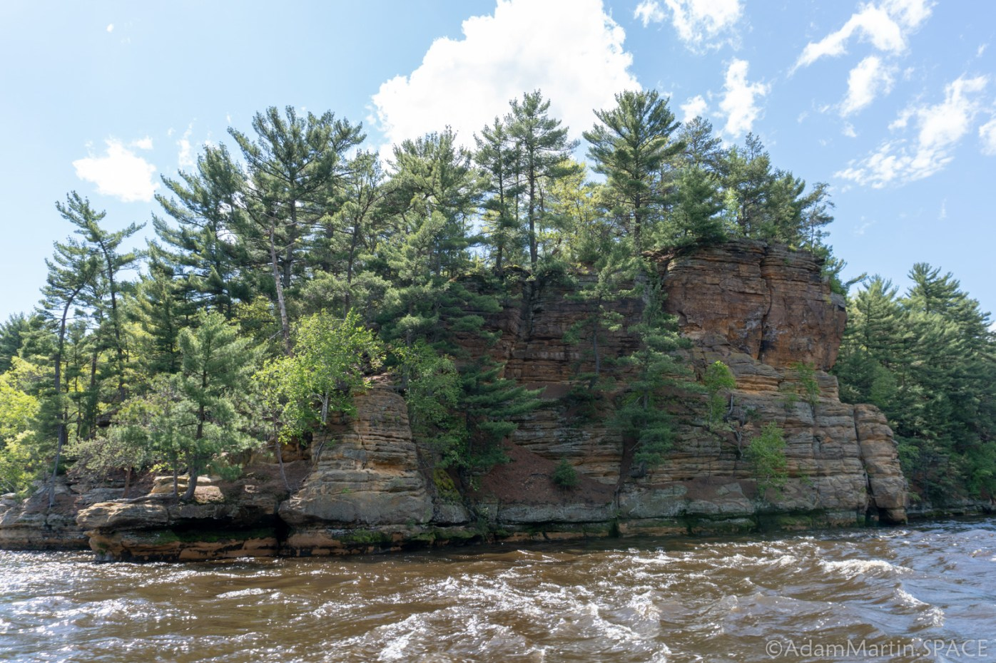 Dells of the Wisconsin River - Cliff Views from Tour Boat
