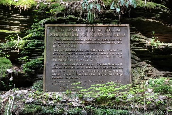 Dells of the Wisconsin River - Witches Gulch Plaque