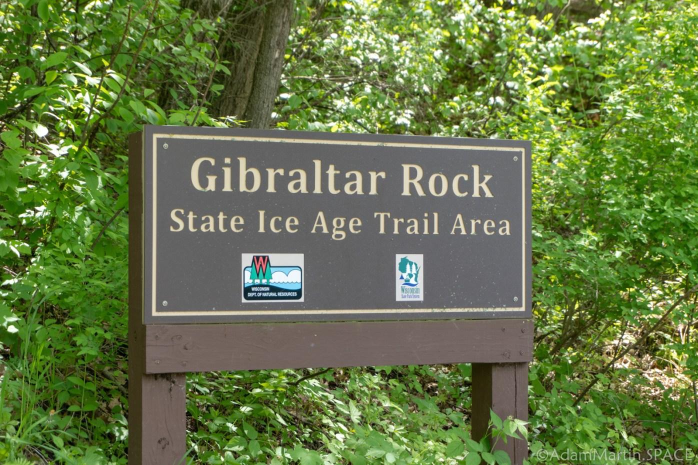 Gibraltar Rock State Natural Area - Entrance Sign