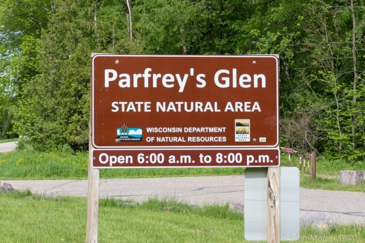 Parfreys Glen State Natural Area - Entrance Sign