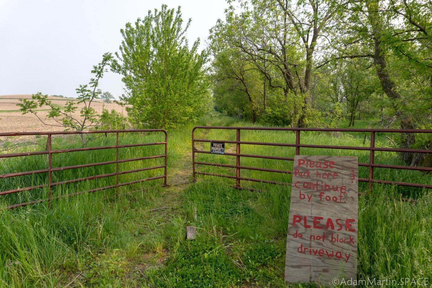 Charles Mound, IL - Property Entrance