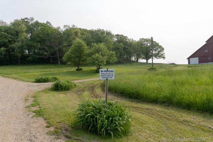 Charles Mound, IL - Sign Near 1st Barn