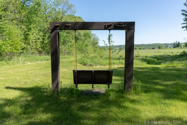 New Glarus Woods State Park - Swinging Bench on Bison Nature Trail