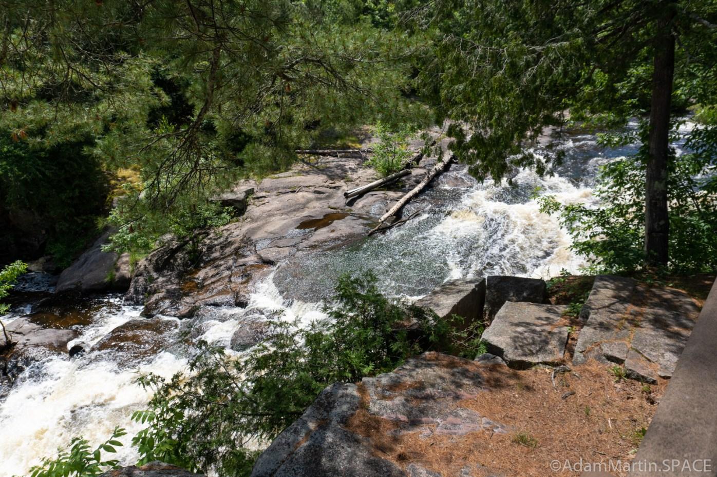 Big Smokey Falls - View of 2nd large falls through trees