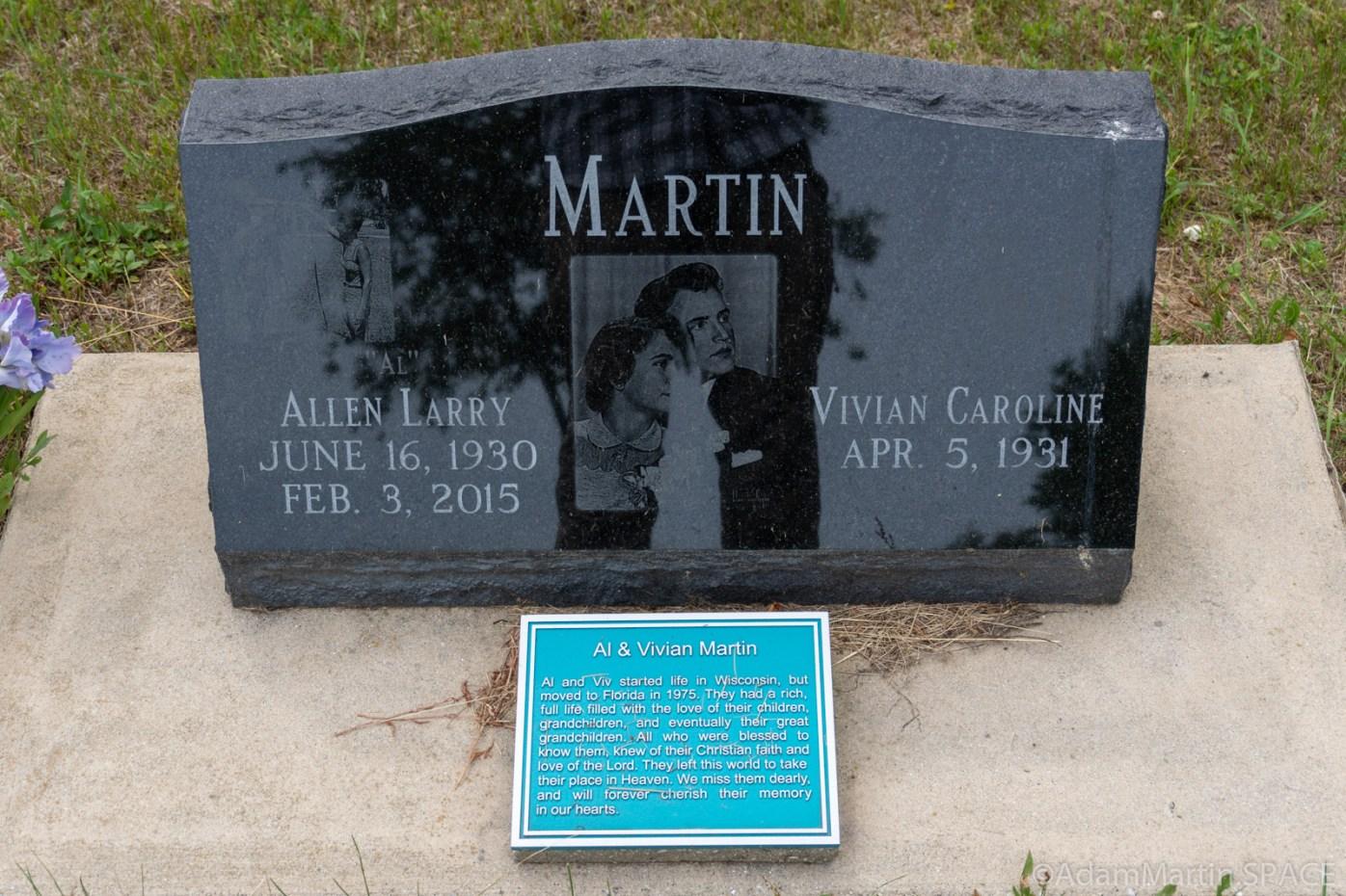 Martin Cemetery - Allen Larry Martin headstone