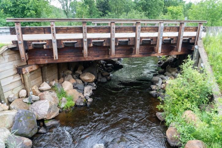 Armstrong Creek Rapids - Road bridge over the creek