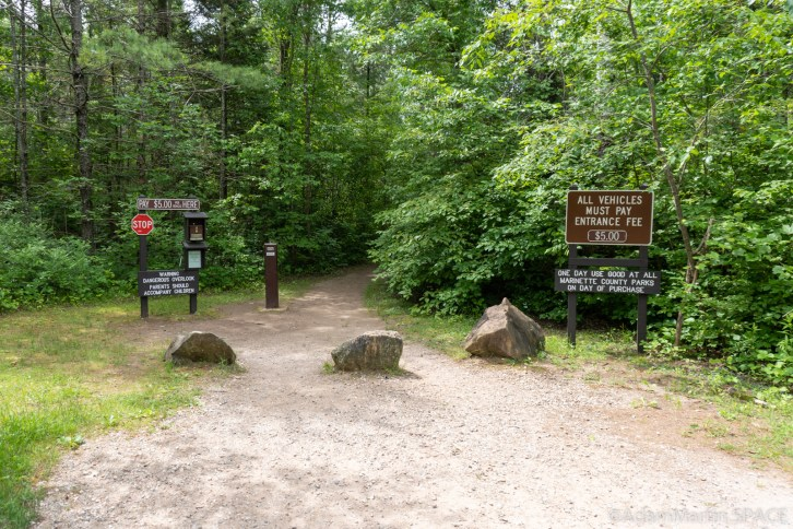 Long Slide Falls - Trail head