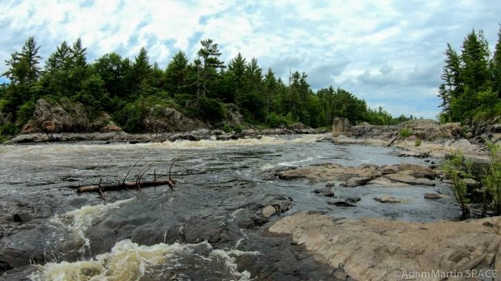 Pemene Falls - Falls view from downstream