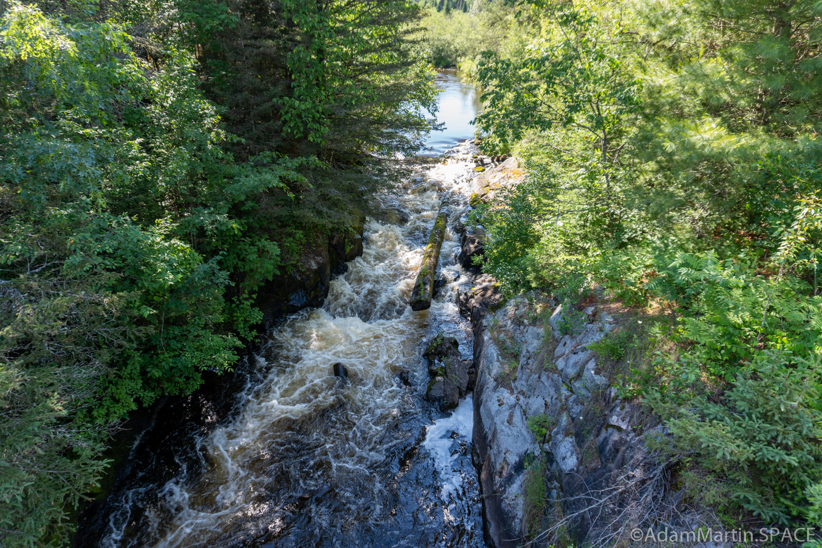 Carney Rapids - View from above on the bridge