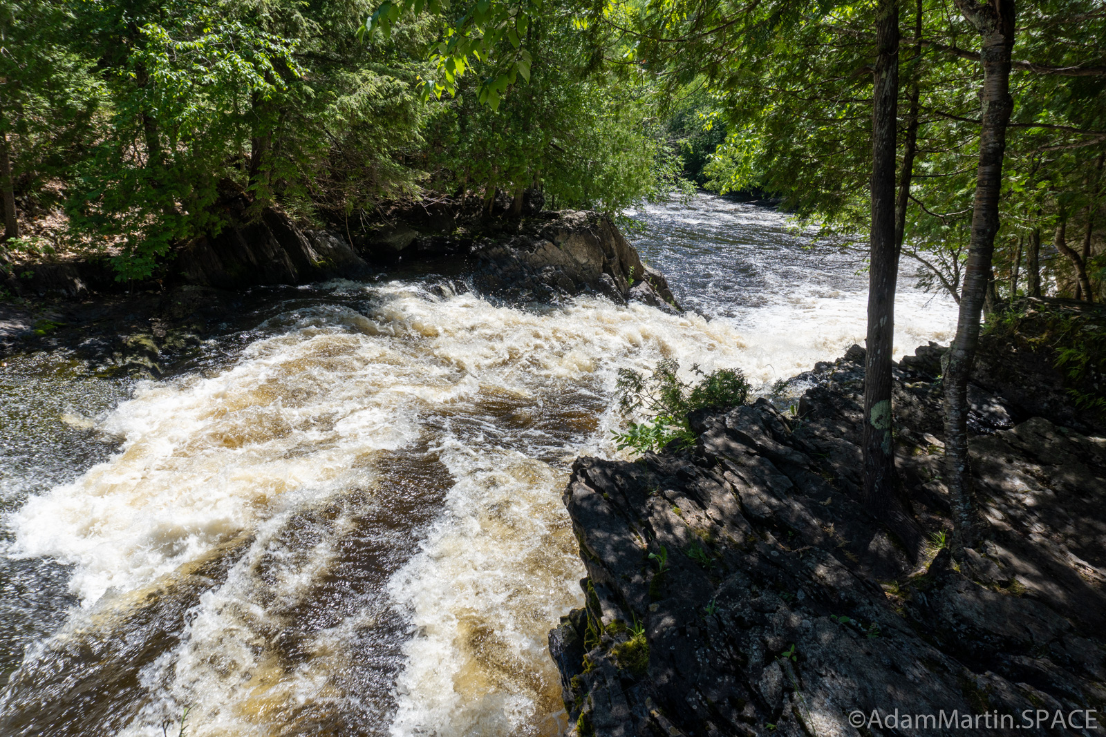 LaSalle Falls - Looking downstream over the main falls
