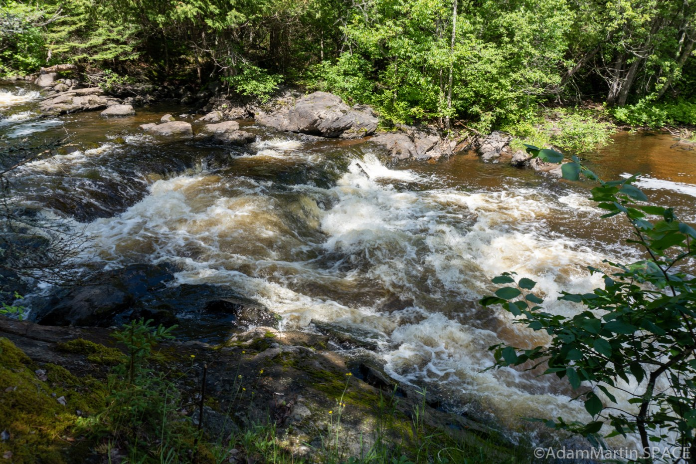 Washburn Falls - Lower falls section