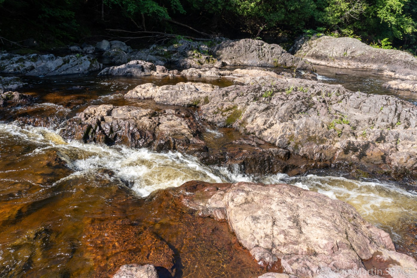 Potato River Dalles - Water cutting through rock