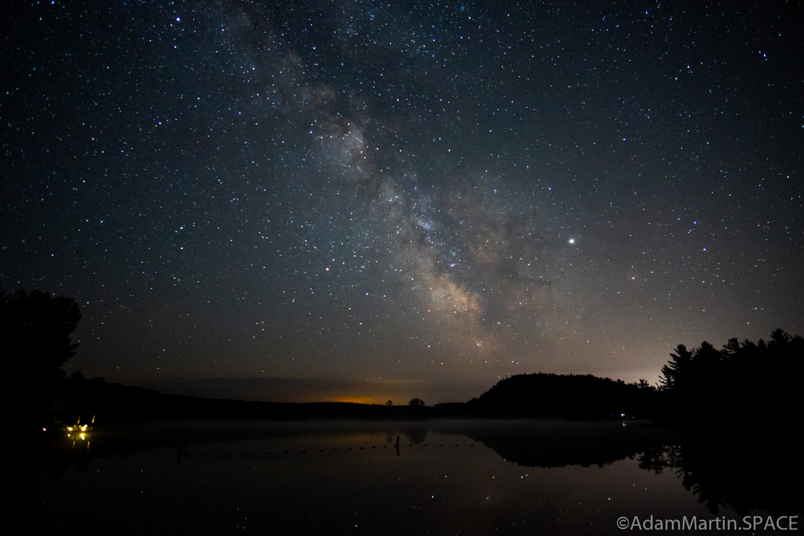 Copper Falls State Park - Astrophotography over Loon Lake