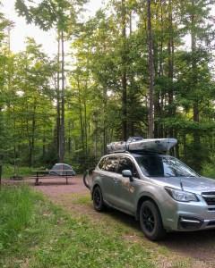 Big Bay State Park - Setup camp for 2 nights