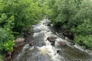 Duncan Creek Rapids - Upstream view from bridge at Columbia Street