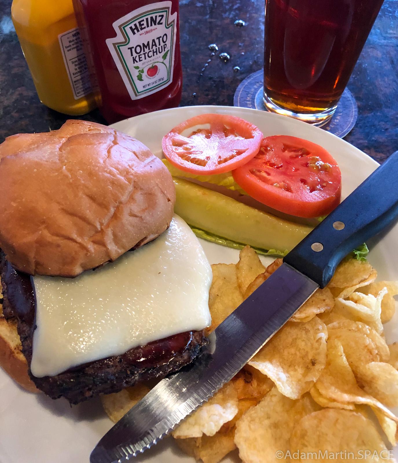 Burger at Inn on Madeline Island pub restaurant