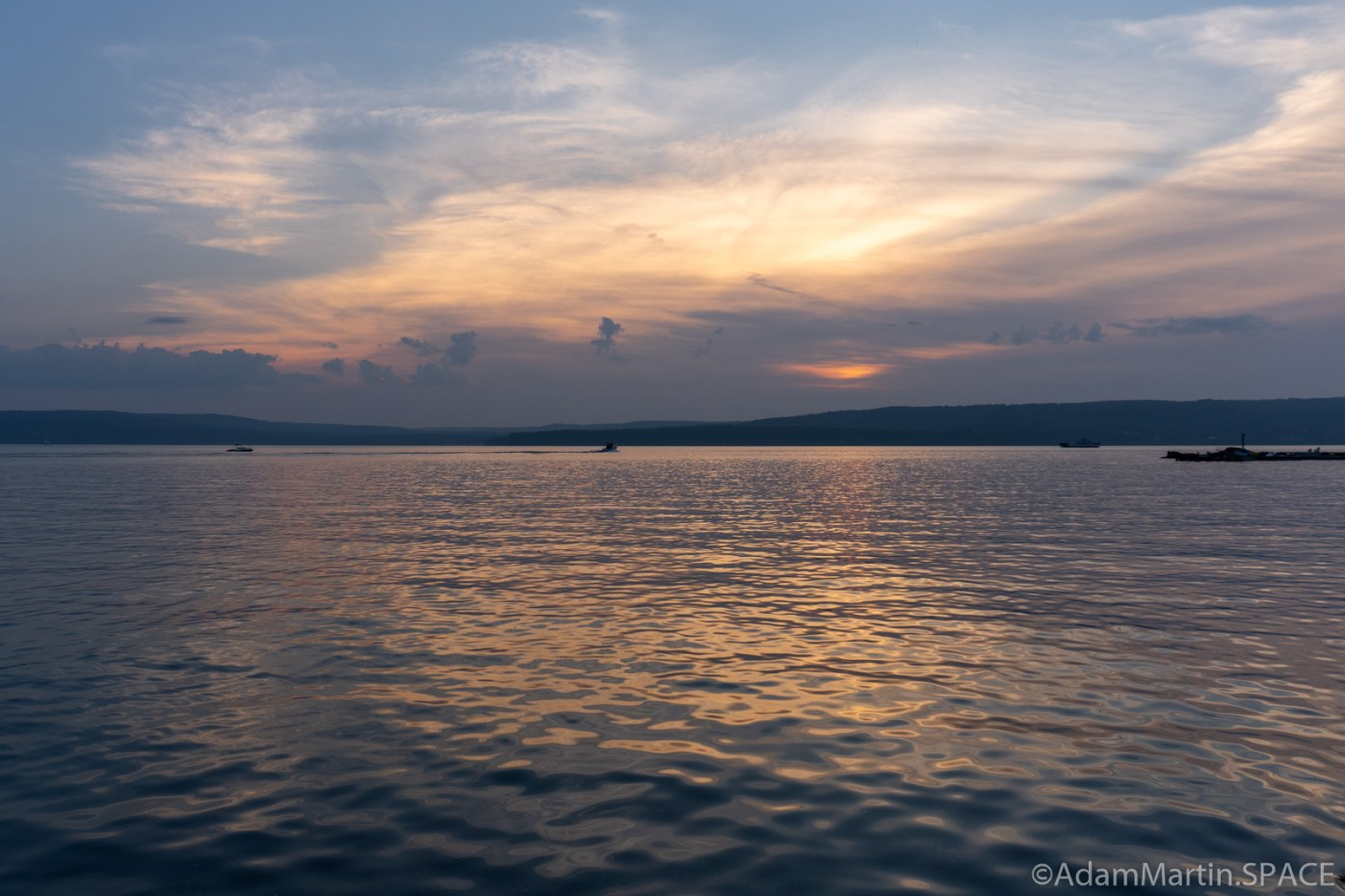 Madeline Island - Sunset at the La Pointe ferry docks