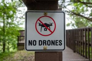 Kinnikinnic State Park - No Drones Warning Sign