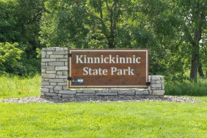 Kinnikinnic State Park - Entrance sign