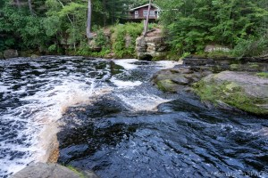 Swimming Falls - Looking over the falls from upstream
