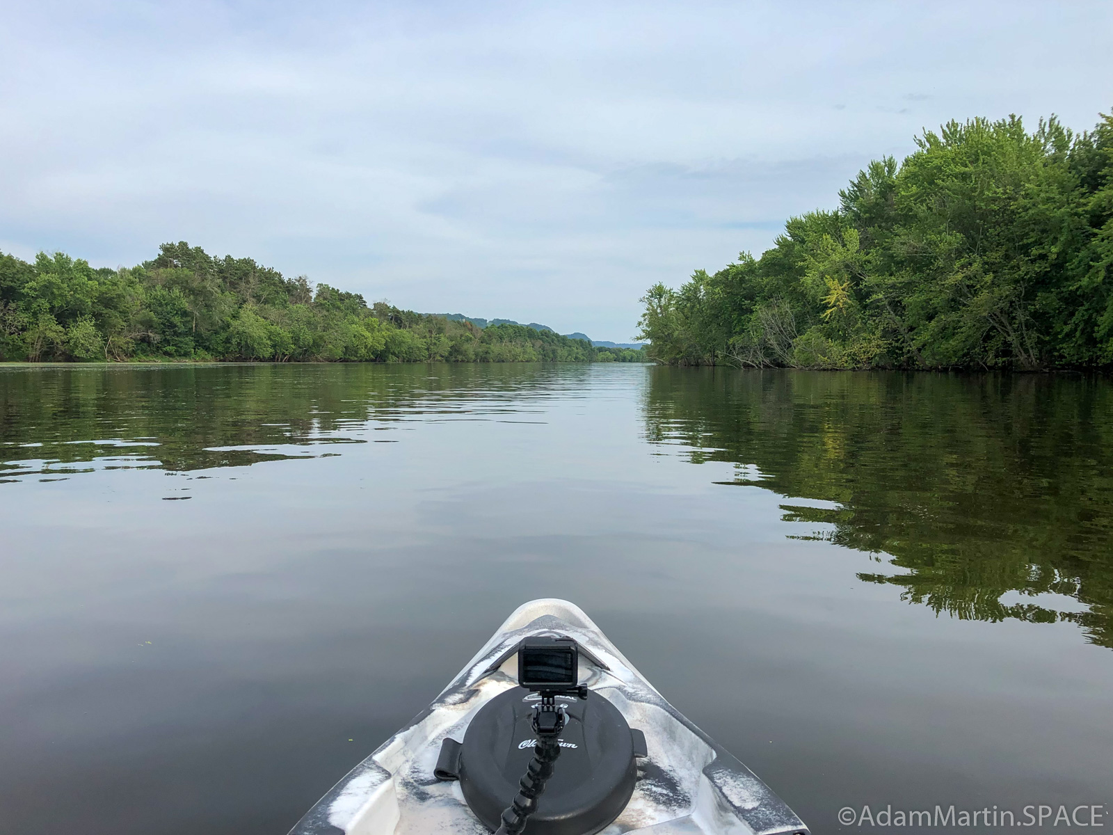 Merrick State Park - Paddling along Fountain City Bay