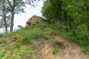 Perrot State Park - Extremely steep section of Perrot Ridge Trail