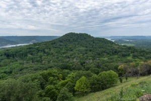 Perrot State Park - View of Brady's Bluff from atop Perrot Ridge