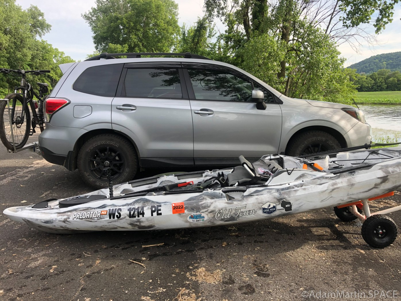 Perrot State Park - Loading up kayak after Voyageurs Canoe Trail