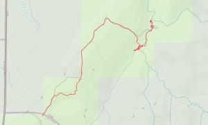 GaiaGPS hiking data @ Copper Creek Falls (Outbound)