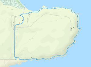GaiaGPS hiking data @ Big Bay State Park - Bay View / Point Trail Loop