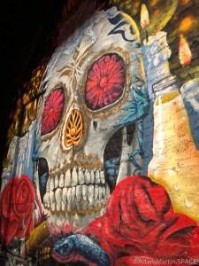 Concord Music Hall - Giant sugar skull mural