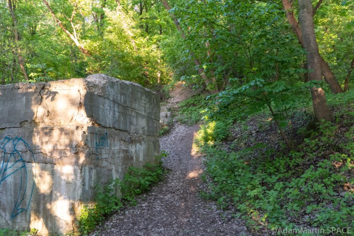 High Cliff State Park - Left path heading up Lime Kiln Falls (Upper)