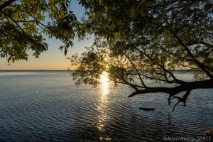High Cliff State Park – Sun setting over Lake Winnebago