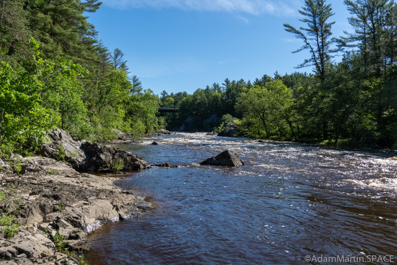 Black River Falls - Hwy K Rapids - Looking upstream from the ground/river level