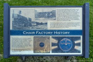 """""""Chair Factory History"""" Historical Sign"""