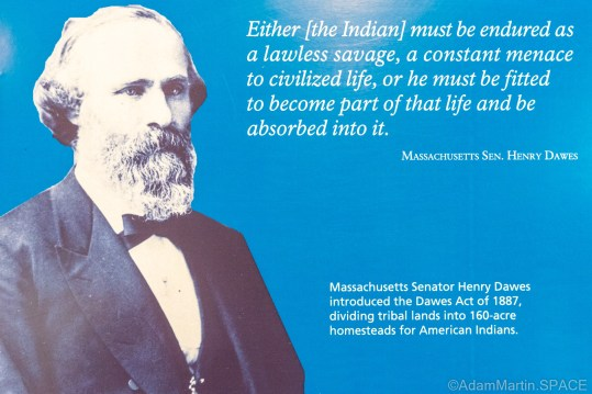 Homestead National Historical Park - Massachusetts Senator Henry Dawes quote