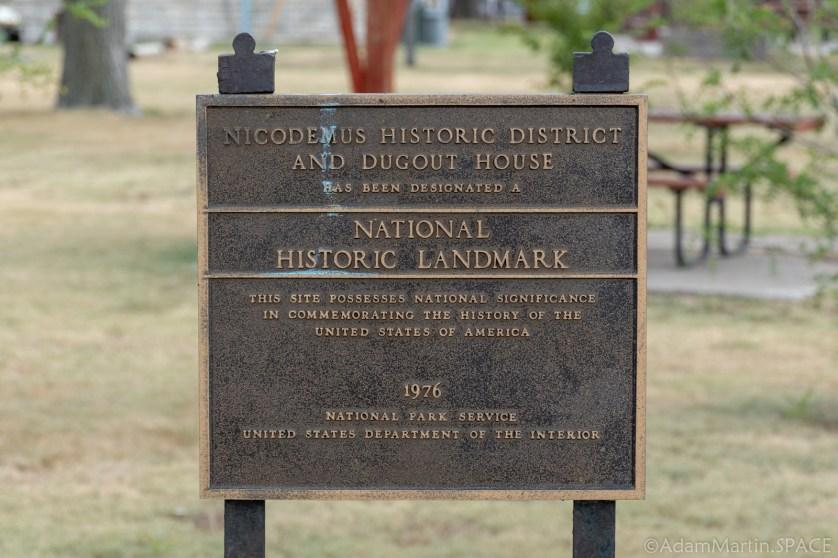 Nicodemus National Historic Site - National Historic Landmark Sign