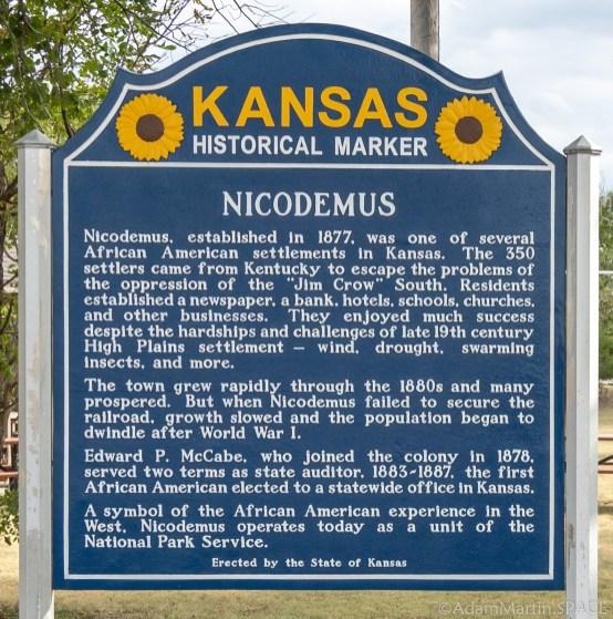 Nicodemus National Historic Site - Kansas Historical Marker