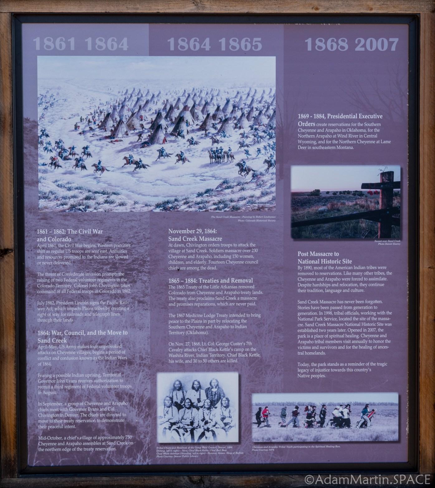 Sand Creek Massacre National Historic Site - Historical Sign