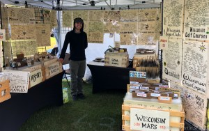 Art In The Park - Jesse aka MedievalMapmaker selling his hand-drawn maps