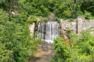 North Bend Falls - Upper Falls from the bridge