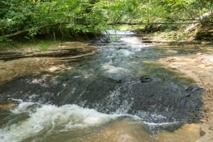 Roaring Creek Falls in Black River Falls, Wisconsin