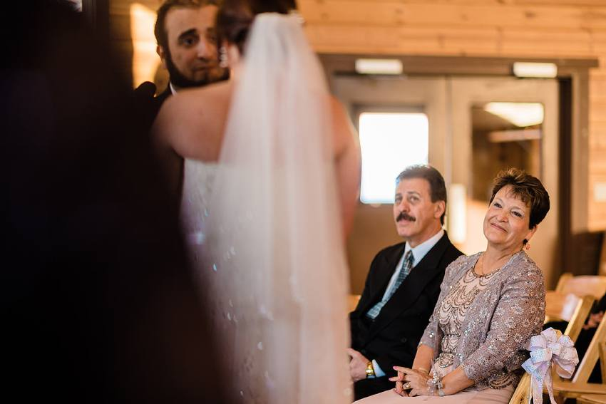 parent reaction at wedding by Washington DC Wedding Photographer Adam Mason