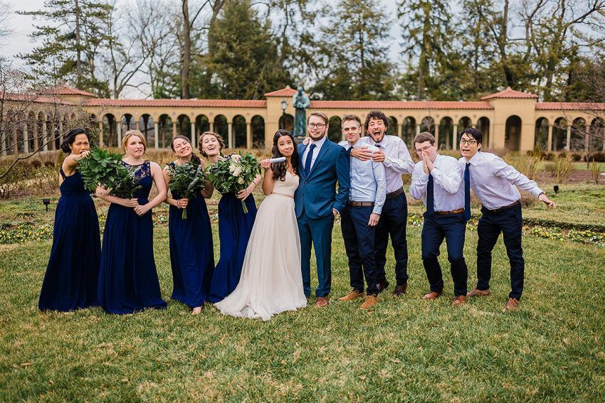 LuLu's Fashion Lounge bridesmaids dresses at St Francis Hall wedding by Washington DC Wedding Photographer Adam Mason