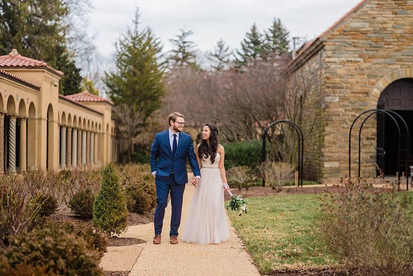 wedding portrait at st francis hall by Washington DC Wedding Photographer Adam Mason