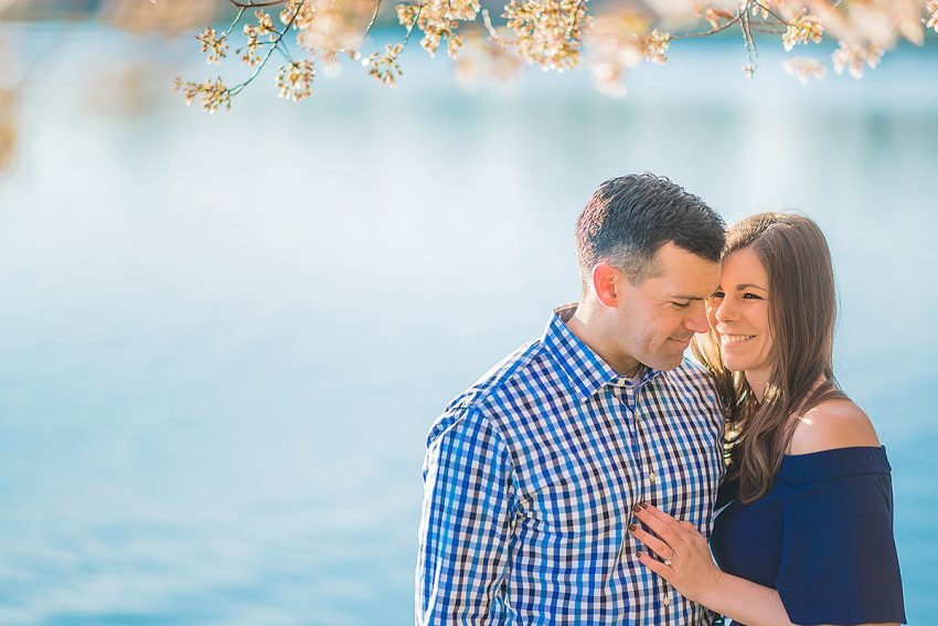 cherry blossoms engagement photographer Washington DC Wedding Photographer Adam Mason