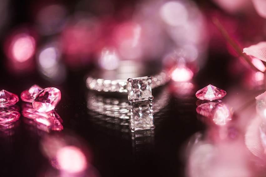 cherry blossoms wedding ring shot by Washington DC Wedding Photographer Adam Mason