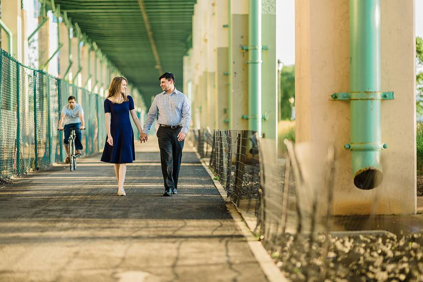 riverside park new york city engagement session by Washington DC Wedding Photographer Adam Mason